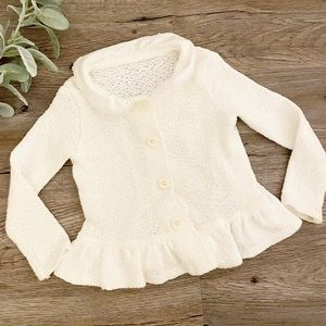 Persnickety White Cardigan